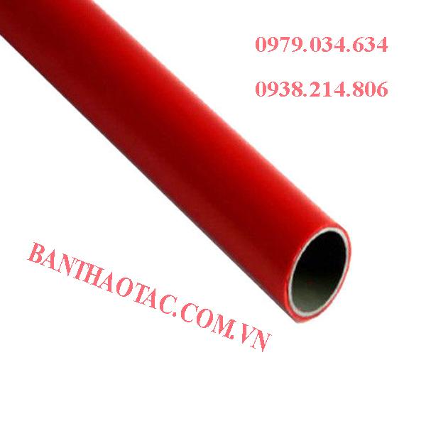 ống thép bọc nhựa màu đỏ