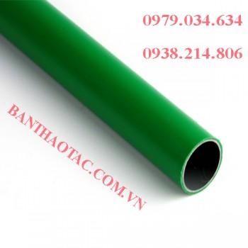 Ống thép bọc nhựa màu xanh lá cây